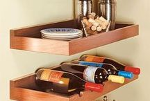 Space-Saving Shelves / Creative and efficient shelves for homes.