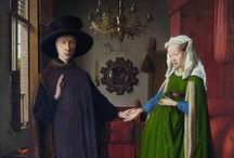 Jan van Eyck (1390 – 1441) / Jan van Eyck (or Johannes de Eyck) (1390 – 1441) was a Flemish painter active in Bruges and is generally considered one of the most significant Northern European painters of the 15th century. The few surviving records indicate that he was born around 1390, most likely in Maaseik. / by Saskia Darcy