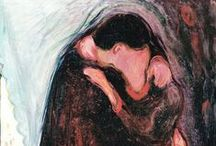 Edvard Munch (1863 – 1944) / Edvard Munch (1863 – 1944) was a Norwegian painter and printmaker whose intensely evocative treatment of psychological themes built upon some of the main tenets of late 19th-century Symbolism and greatly influenced German Expressionism in the early 20th century. One of his most well-known works is The Scream of 1893. / by Saskia Darcy