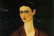 Frida Kahlo (1907 – 1954) / Frida Kahlo de Rivera (1907 – 1954) was a Mexican painter who is best known for her self-portraits. Her work has been celebrated in Mexico as emblematic of national and indigenous tradition, and by feminists for its uncompromising depiction of the female experience and form. / by Saskia Darcy