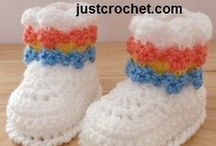 crochet: shoes, booties etc/ free #3 / by Amy Woods
