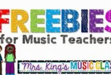 Music Freebies I Love / Free music resources for teachers in a music classroom or just regular elementary classroom.  I'm pinning some fabulous freebies for printables, workstations and centers, bulletin boards and other things your students will want you to add to your lesson plans over and over.