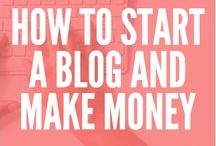 ! How To Start A Blog and Make Money / Learn how to start a blog and make money, including how to start a blog for free, how to start a blog for beginners, and how to start a blog step by step.