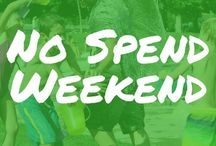 ! No Spend Weekend / Get no spend weekend ideas, including participating in a no spend challenge, having a no spend weekend with kids, things to do on a no spend weekend, even ideas for a no spend weekend date, plus no spend weekend ideas for fall, winter, summer, and spring.