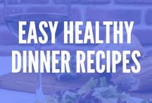 ! Easy Healthy Dinner Recipes / Check out these easy healthy dinner recipes for families, including chicken, beef, vegetarian, clean eating,, quick recipes, and more.