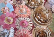 flowers and how to make flowers / Making paper flowers  / by Kathy Baird