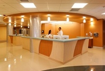 """Eisenhower Medical Center Emergency Department / One doesn't usually experience a healing environment in the waiting area of an emergency room, yet this is often a patient's first impression of the hospital. For many it is the design of the hospital's """"front door"""" because an increasing number of hospital admissions come through the emergency department. Design by Jain Malkin Inc"""