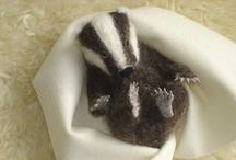 Needle Felting / examples of dry felted items made with a thin barbed 'needle' / by Karen Slade