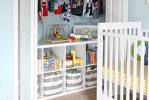 Nursery: Closets, Storage, and Organization / shelves, baskets, bins, dividers, hooks, hangers ... keep the nursery organized! / by Incredible Infant (Heather Taylor)