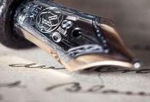 Writing utensils~Fountain pens&Inkwell / by Saco Takata