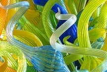 """Art With Glass / """"Glass is the most magical of all materials. It transmits light in a special way."""" - Dale Chihuly"""