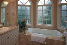 Bathroom Window Treatments / Relax in a warm bubble bath or take the first few relaxing moments of your day getting ready in your master bathroom. Control the lighting and mood with the proper window treatments for the ultimate in decor, mood and relaxation... / by Window Fashion Pros