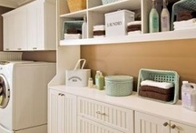 "Utility & Laundry Room Storage Solutions / No need to shut the door and hide your ""stuff"". 