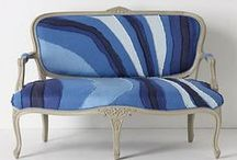 Furniture upcycle Inspiration / upcycling and reupholstering ideas