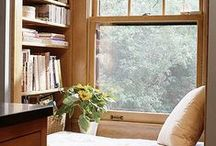 Book Nooks / Welcome to reading nook heaven.