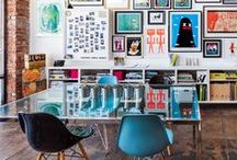 Project: South Austin Graphic Design Office / A 5500 sq.ft. office for a fresh graphic design firm making a name for themselves in South Austin, Texas. Must haves: cool design finds that impress without being pretentious. Creativity is key.  / by Lesley Myrick | Interior Stylist + Art Director