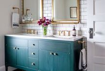Project: Woodway Master Ensuite / Renovation of a master ensuite in Woodway, Texas. Country meets eclectic meets luxe. Design by Lesley Myrick Art + Design in Waco, TX.