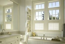 Window Treatments BLINDS / All styles...fabric, wood, horizontal, vertical, etc. / by Danielle Anderson