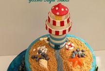 Celebration cakes / Hot Air Balloon Christening Cake