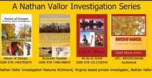 Mystery / A Nathan Vallor Investigation Series by Cara E. Moore and Mystery pins.