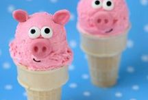 Ice Cream Treats / Have fun with ice cream by decorating ice cream cones, creating ice cream rolls, or making no churn ice cream at home.