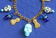 Dia de los Muertos / Day of the dead themed art craft design illustration jewelry