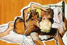 True Romance / vintage illustrations of men and women in love