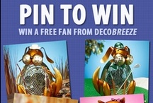 Pin to Win!  / Enter DecoBREEZE's Pin to Win! 1 - Go to our Facebook Page: http://bit.ly/PintoWinDeco 2 - Fill out your name & email address  3 - 'Pin' at least 2 items listed that you would want to win 4 - Click ENTER  Winner will be chosen the week of July 15.  / by Deco Breeze