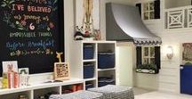 Playroom / Ideas for the perfect (and perfectly organized) playroom! Including ideas on storage and decorations too!   Playrooms for boys and girls of all ages, from baby to toddler to big kid.  Lots of DIY and IKEA hacks (because I love IKEA)!