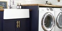 Laundry Room / The best laundry room ideas, makeovers and design.  Utilizing storage and obtaining ultimate organization in a small space.  DIY laundry room decorations and picking the best colors!