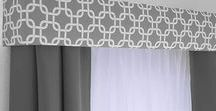 Curtains / Curtain ideas for the home.  Mostly DIY and easy, no-sew options.  Curtains and window treatments for the living room, kitchen, bathroom, nursery and bedroom.