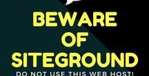 BEWARE OF SITEGROUND WEB HOSTING! / I loved Siteground at first, praised them even. Then I saw their true colors with how they treat their customers and did further research and found many of their positive reviews are fake as they do their best to cover up the truth of how they operate. Since as far back as 2005 I have found complaints and wish I had only seen these sooner before wasting my time with such a dishonest, unethical web hosting company! I hope this board helps other who were considering Siteground.