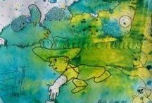 Loving Art / Art by Danish artist Laila Cichos. Cartoon art, modernism etc. Kunst af danske billedkunstner Laila Cichos. Cartoon art kombineret med modernisme og noget udefinerligt.