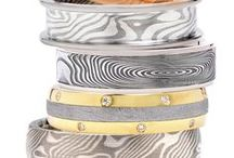 Designer:  Chris Ploof / Chris Ploof's natural curiosity inspired him to design wedding bands from exotic materials, such as meteorite and Mokume Gane, an ancient Japanese technique using fused metals.