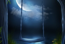 Bright Star/Blue Moon / And in the trembling blue-green of the sky A moon, worn as if it had been a shell Washed by time's waters as they rose and fell About the stars and broke in days and years.  ~Yeats