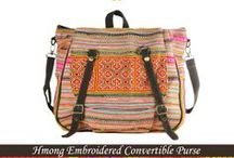 Ethnic Bags / Ethnic bag, Tribal bag, Backpack, Boho, bohemian, Vintage, Native, hippie, Gypsy, Ethnic, Elegant, Hill Tribe, Tribal, asian, Thailand, Thai,  Hmong, traditional, deluxe, Luxury, oriental, Antique, Lanna, Unique, charming, rare, Fabric, designs, cross stitch, Texture, textile, embroidery, embroidered, symbolic, Hand made, hmong fabric, Pattern,  hand stitched, quilt, Hmong Baby Carrier, Boho bag, bohemian  bag, Vintage bag / by Caravan to the Moon