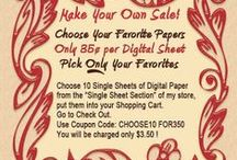 Digital Papers / Print it yourself digital papers designed by Lyn Norton of Spectacular Printable