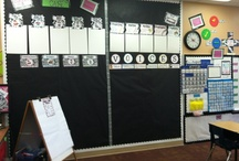 Classroom Decor / Math focus wall... calendar, word wall, number of the day.  / by Sister Teachers