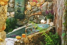 outdoor spaces and hardscaping / by Lola Sharp