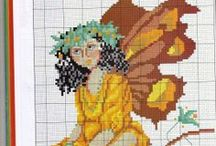 Cross stitch Fairies, elves, gnomes, dragons / by Teresa Beckman