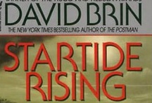 David Brin Novels / David Brin's science fiction novels: The near future scenarios of Existence and Earth, the post-apocalyptic The Postman and the fun fantasy of The Practice Effect.
