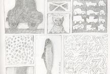 My Pencildrawings and etchings / My personal little drawings from around 1995