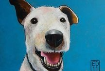 God as a dog / Dogs in art