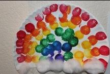 Rainbow Preschool Theme / Different ideas for a rainbow theme
