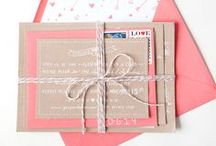 Wedding Invitations / The invitations you send out to guests are the first bit they get to see of your wedding. Here are some great ideas for making a unforgettable first impression.