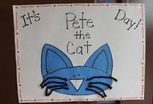 Pete the Cat Preschool Theme / Ideas to correlate with Pete the Cat books