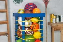 DIY Bungee Bin / Create your own ball keeper/garage organizer using #RockwellTools #rockyourgarage / by Rockwell Tools
