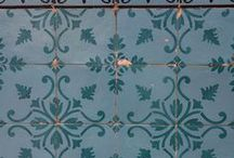 AZULEOS tiles / Different, arty, tiles from many different countries. Like Portugal, Marocco, and the Netherlands