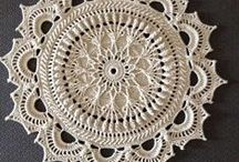 Mandala, Doily crochet....... / Crocheting in the round.......for doilies, rugs, etc