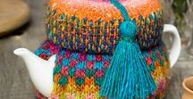 Tea for two cosies / knitted and crocheted tea cosies